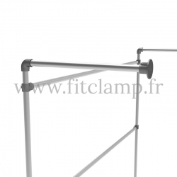 Tubular structure single wall-mounted clothes rail. Quick and easy assembly with an Allen key (provided). FitClamp