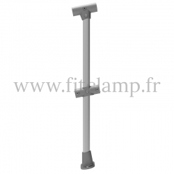 Angled barrier post 0-11° - Extension: C42 tubular structure. FitClamp