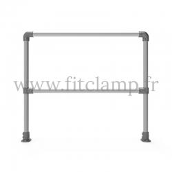 Upright tubular barrier - Single: C42 tubular structure. FitClamp