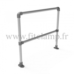 Upright tubular barrier - Single: C42 tubular structure. Assembled with a simple Allen key