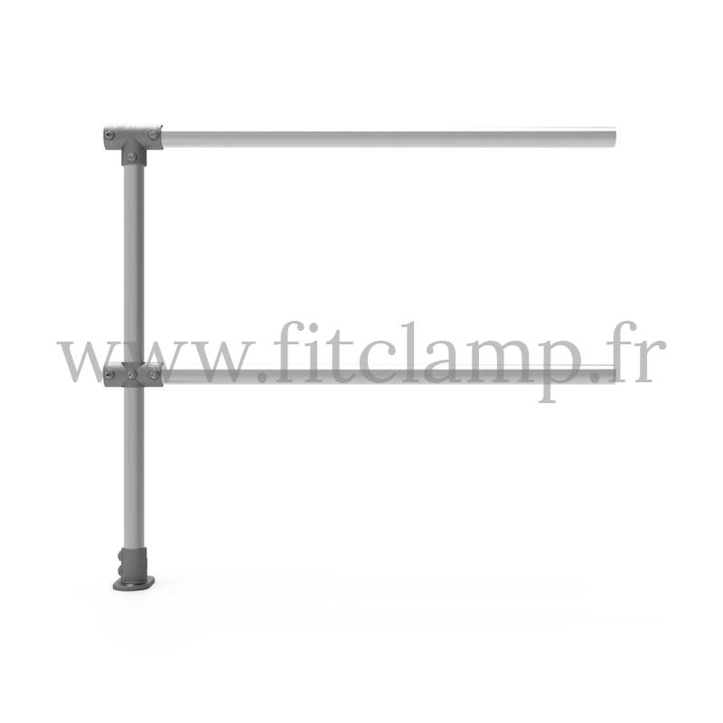 Barandilla extensión C42 - Suelo plano 0°. FitClamp