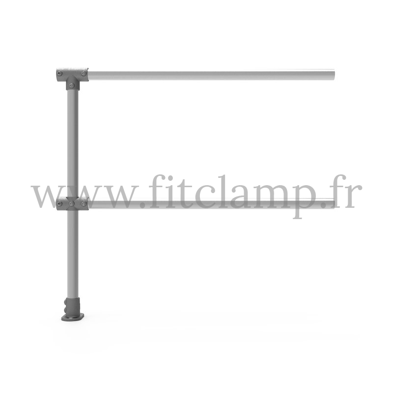 Upright tubular barrier - Extension: C42 tubular structure. FitClamp