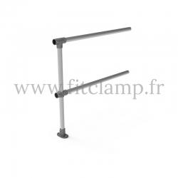 Barrière C42 droite en structure tubulaire acier galvanisé - Extension. FitClamp