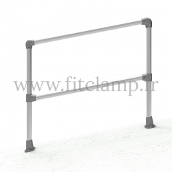 Angled barrier 0-11° - Simple: C32 tubular structure. FitClamp
