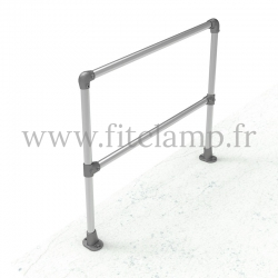 Angled barrier 0-11° - Simple: C32 tubular structure. Assembled with a simple Allen key