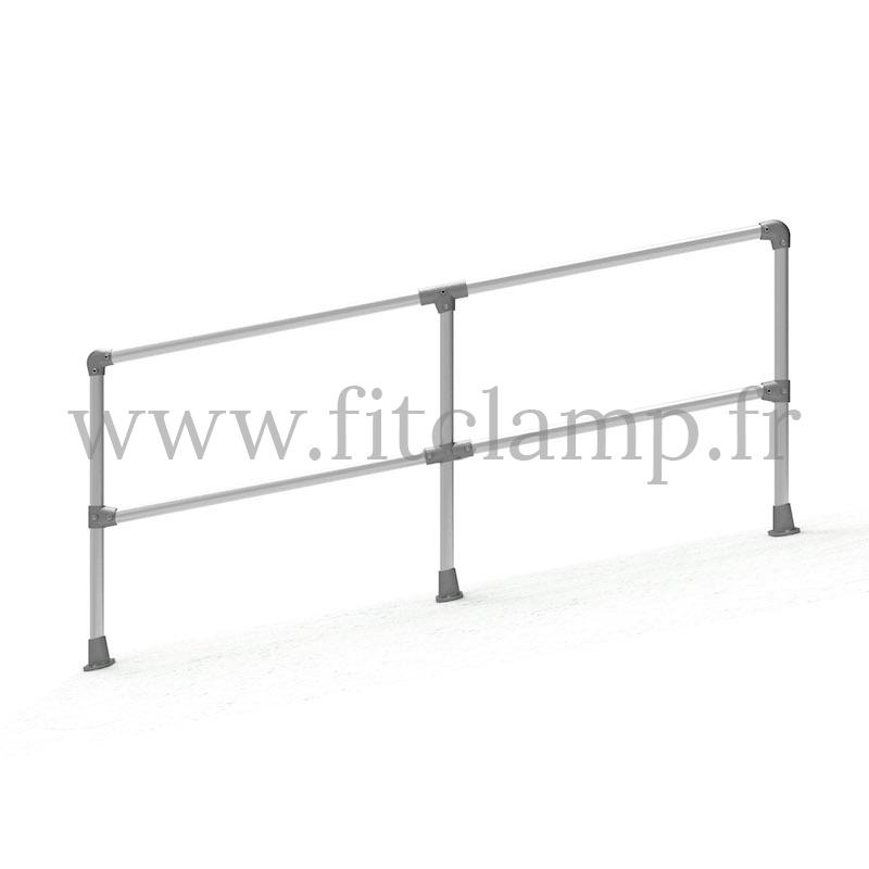 Barrière C42 inclinée 0-11° - Double - FitClamp