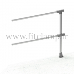 Angled barrier 0-11° - Extension: C42 tubular structure