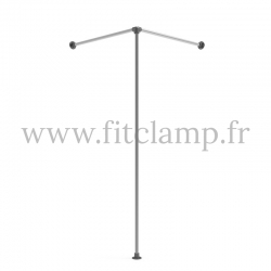 Corner fitting room - tubular structure. Easy to install