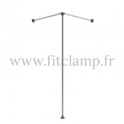 Cabine d'essayage corner - FitClamp