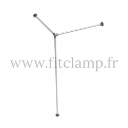 Corner fitting room - tubular structure. Easy to install. FitClamp