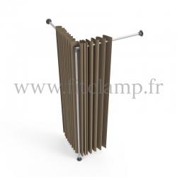 Corner fitting room - tubular structure. FitClamp
