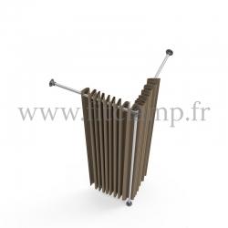 Cabine d'essayage Corner en structure tubulaire acier galvanisé. FitClamp