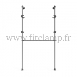 Single-width shelving with hanging wardrobe. B34 Tubular structure. Easy to install