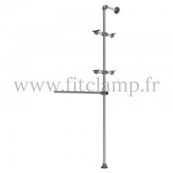 Etagère avec penderie extension - Acier galvanisé 2. FitClamp