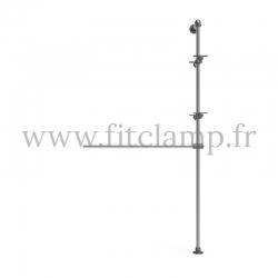 Etagère avec penderie extension - Acier galvanisé. FitClamp