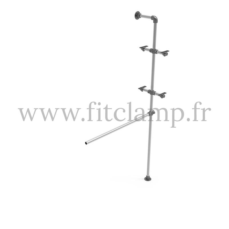 Regal mit Kleiderstange - Erweiterung B34. FitClamp.