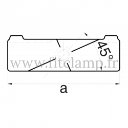 Tube clamp fitting 126 for tubular structures: Angle cross, compatible for use with 3 tubes. Assembling with a simple Allen key