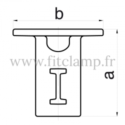 Tube clamp fitting 134: Ground socket for tubular structures. Recommended tightening torque: 40Nm