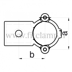 Tube clamp fitting 137 for tubular structures: Clamp-on crossover, suitable for 2 tubes