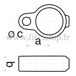 Tube clamp fitting 138 for tubular structures: Gate eye
