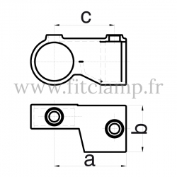 Tube clamp fitting 148 for tubular structures: Short swivel tee