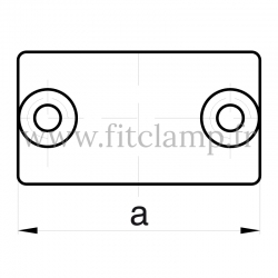Tube clamp fitting 149 for tubular structures: External sleeve joint