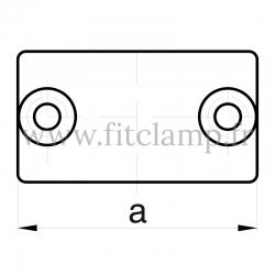 Raccord tubulaire Manchon externe (149) pour un assemblage tubulaire. Double galvanisation. Plan