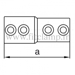 Raccord tubulaire Manchon mixte externe (149BA) pour un assemblage tubulaire. Double galvanisation. plan