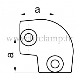 Tube clamp fitting 154 for tubular structures: Short tee 0-11°
