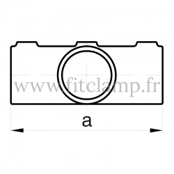 Tube clamp fitting 156 for tubular structures: Degree cross 0-11°