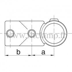 Tube clamp fitting 165 for tubular structures: Combination socket