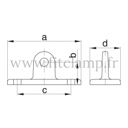 Raccord Patte piètement orientable (169M) pour structure tubulaire