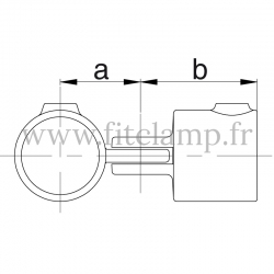 Tube clamp fitting 173: Single swivel for tubular structures