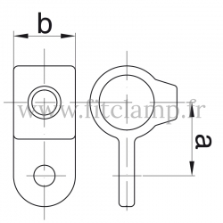 Tube clamp fitting 173M: Single male swivel for tubular structures
