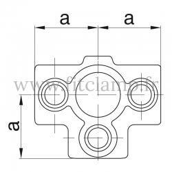 Raccord tubulaire Etoile intermédiaire (176) pour un assemblage tubulaire