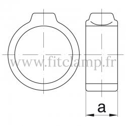 Raccord tubulaire Bague de serrage (179) pour un assemblage tubulaire. Double galvanisation. Plan