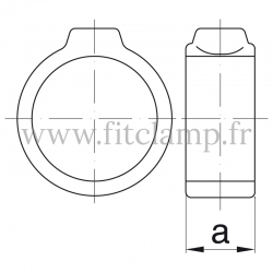 Tube clamp fitting 179: Locking collar for tubular structures