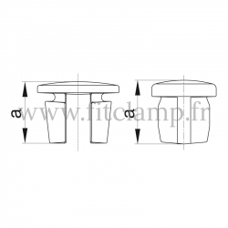 Tube clamp fitting 184: Steel tube plug for tubular structures