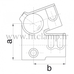 Tube clamp fitting 185: Eves fitting clamp for tubular structures