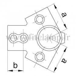 Raccord tubulaire Charpente partie haute (191) pour un assemblage tubulaire