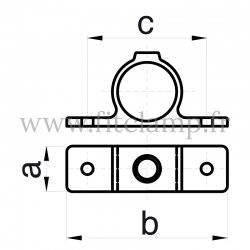 Tube clamp fitting 198: Double-sided fixing bracket for tubular structures