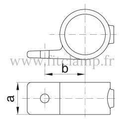 Raccord tubulaire Bague de fixation simple (199) pour un assemblage tubulaire. Double galvanisation. Plan