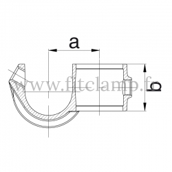 Tube clamp fitting 201: Guard hook for tubular structures.