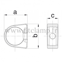 Tube clamp fitting 235: Relay ring compatible for use for tubular structures.
