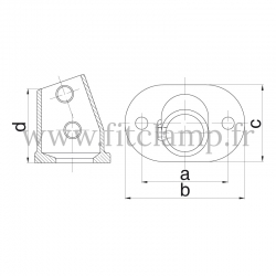 Tube clamp fitting 252Z: Slope base flange for tubular structures