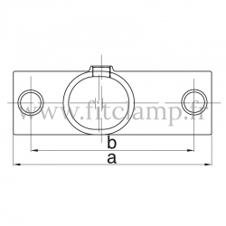 Tube clamp fitting 255Z for tubular structures: Slope long tee 11-29°