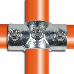 Raccord tubulaire Croix (119) pour un assemblage tubulaire.  Compatible pour fixer 3 tubes. FitClamp