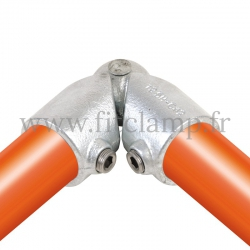 Tube clamp fitting 125H for tubular structures: Variable elbow clamp, compatible for use with 2 tubes. Easy to install