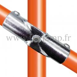 Raccord tubulaire Croix incliné 30°-45° (126) pour un assemblage tubulaire