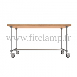B34 Standard table in tubular structure: Industrial style. Easy to install. FitClamp